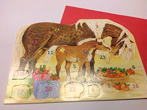 Adventskalenderkarte-Bescherung-im-Pferdestall