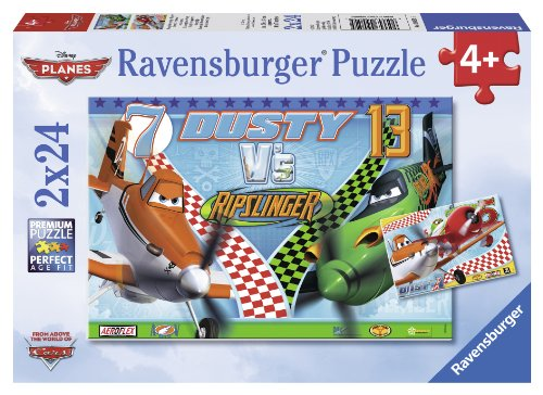 Ravensburger Disney Planes: Dusty The Brave Aviator (2 x 24-Piece) Puzzles in a Box