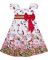 Sunny Fashion Robe Fille Rose Fleur Court Manche Partie