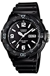 Casio Men's MRW200H-1B2V Black Resin Quartz Watch with Black Dial