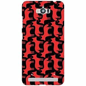 Asus Zenfone Max ZC550KL Back Cover - Silicon Black & Red Designer Cases