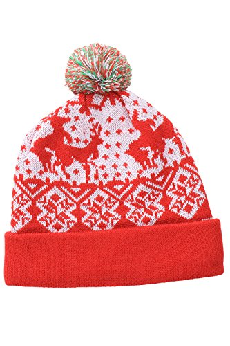 Red Humping Reindeer Christmas Beanie by Tipsy Elves - One Size