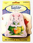 Easter Bunny Playing Cards in Tin Case