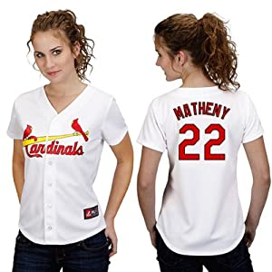 Mike Matheny St Louis Cardinals Home Ladies Replica Jersey by Majestic by Majestic