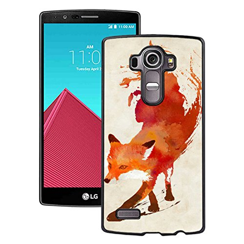 LG G4 Case,Watercolor Fox Animal Oil Painting Case for LG G4 - PC Black
