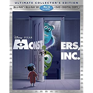 Monsters, Inc 3D Blu-Ray DVD Combo