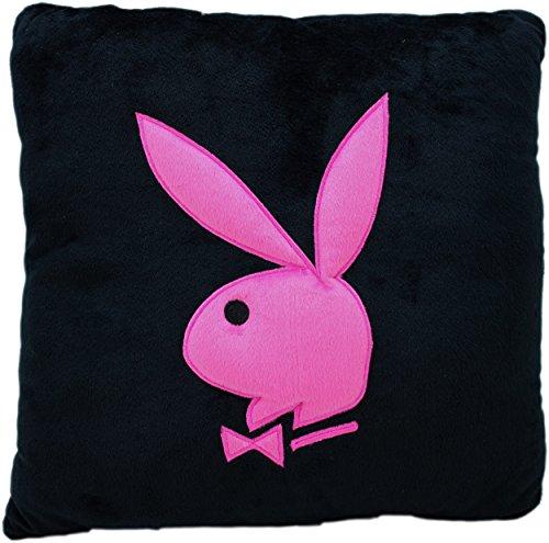 playboy-conejo-cojin-cuadrado-40-x-40-cm-tela-negro-40-x-40-cm