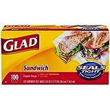 Glad Zipper Sandwich Bags, 100 Count