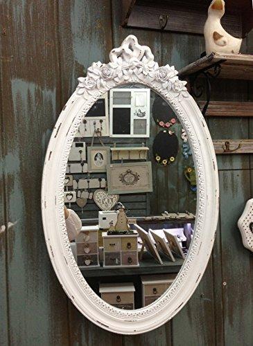 Specchio da parete specchio anticato un'elegante in legno guardaroba specchio barocco corridoio