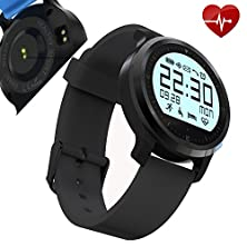 buy Luoov Smaate F68 Heart Rate Monitor, Smart Wristband Bracelet Calls Vibration Remind For Iphone And Android Smartphones (Black)