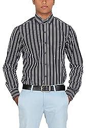 Botticelli Men's White and Black Shirt (3592-FULL-A-L_White_Large)