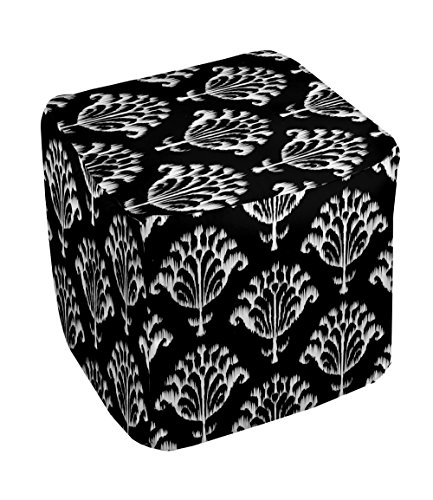 E by design FG-N16-Black-18 Geometric Pouf - 1