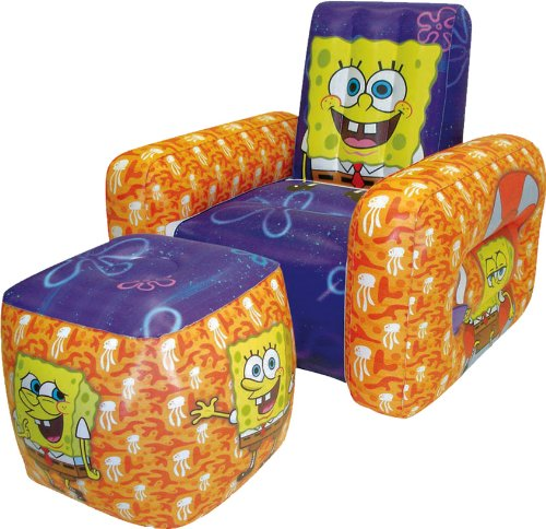 Nickelodeon SpongeBob Inflatable Chair and Ottoman by Rand