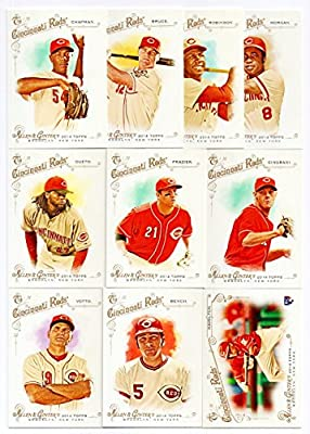 Cincinnati Reds 2014 Topps Allen and Ginter MLB Baseball Regular Issue Complete Mint 10 Card Team Set with Frank Robinson Johnny Bench Jay Bruce and Others