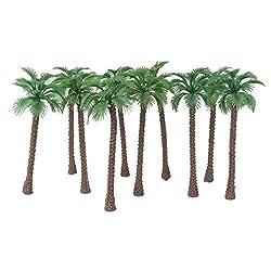 Imported 20pcs Model Coconut Palm Trees 1/150 6cm