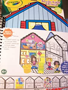 Crayola 3d color play create your own doll house toys games Design your own house game 3d