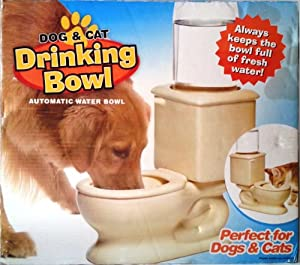 Dog & Cat Automatic Toilet Drinking Water Bowl