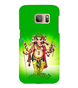 printtech Lord God Ganesha Back Case Cover for Samsung Galaxy S7 :: Samsung Galaxy S7 Duos with dual-SIM card slots