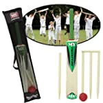 SIZE 3 CRICKET SET WITH STUMPS AND BA...