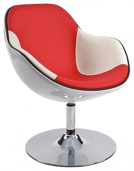 Drehbarer Loungesessel Daytona Farbe: Weiß  Rot