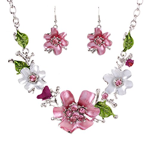 Wunderschön Damen Trachtenschmuck Halskette Halsband Kette Schmuck Set inkl. Ohrringe HOI-SP374 thumbnail