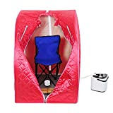 ReaseJoy Portable Red Personal Therapeutic Steam Sauna SPA Slim Detox Weight Loss Home Indoor