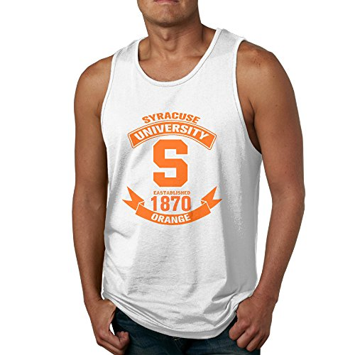 PTCY Football Of Syracuse University S Men's Make Your Own Sleeveless Shirt Funny XL White (Ernie The Elf)