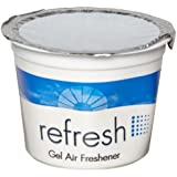 Fresh Products 12-4G-LE 4.6-Ounce Lemon Fragrance Refresh Gel Air Freshener (Case of 12)