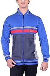 RGT Men's Fleece Regular Fit Sweatshirts (RGT6036GREYROYAL-L)