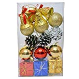 Sunsumo Christmas Tree Decorations - hangings - pack of 12 pieces