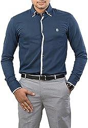 Unkonventional Men's Casual Shirt (unkimpnavzzm_Dark Blue_38)