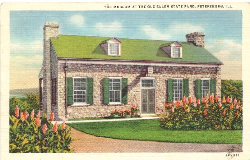 1940s Vintage Postcard - The Museum at the Old