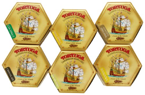 Tortuga Caribbean Six-Pack Mix, 4-Ounce Cake (Pack of 6)