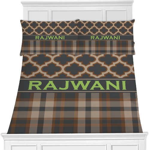 Moroccan & Plaid Bedding Set (Personalized) - Toddler front-1008505