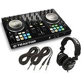 Native Instruments Traktor Kontrol S2 MK2 DJ Controller + Tascam DJ Headphone TH02 + (2) 1/4 cables 18ft ea