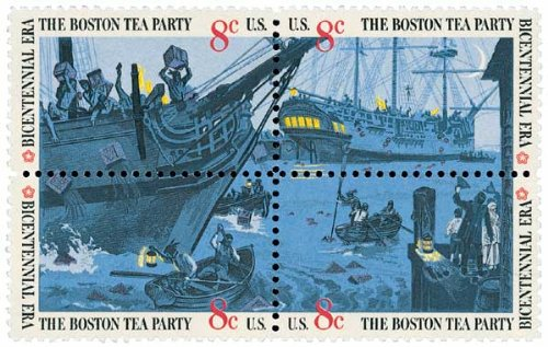 #1480-83 - 1973 8c Boston Tea Party Plate Block Postage Stamps (4)
