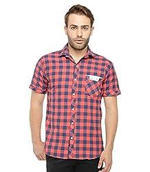 Wajbee Men's 100% Cotton Casual Half Shirt