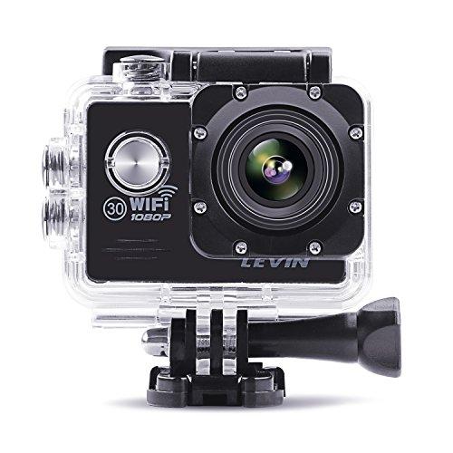 LEVIN 防水 スポーツカメラ 1400万画素 デュアルバッテリー配置 1...