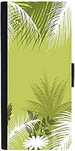 Snoogg Palm Tree With Flower Graphic Snap On Hard Back Leather + Pc Flip Cove...