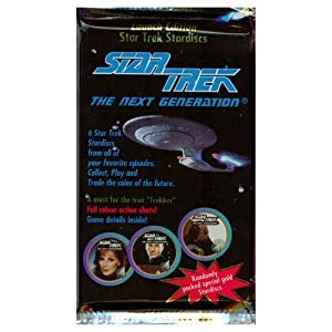 1994 STARDISC COINS PACK * Star Trek The Next Generation * Pack of 6 Star Trek Full Color Stardiscs Game Pieces