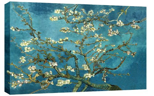 VAN GOGH BLOSSOMING ALMOND TREE FLORAL CANVAS ART PAINTING 34 x 20 inches mounted and ready to hang by Wall Art Interiors