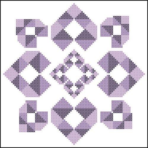Patchwork Hearts Quilt Blocks