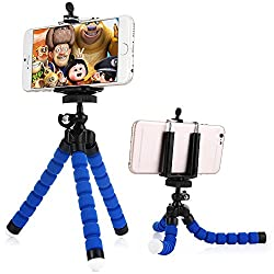 Portable and Adjustable Flexible Octopus Tripod Stand with Clip Bracket Monopod Mount Holder Selfie Stand for Mobile Phone, Cellphone, Smartphone, Digital Camera WITH FREE CARD READER