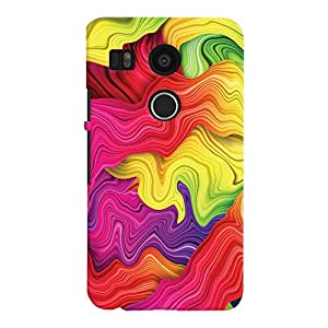 ColourCrust LG Google Nexus 5X Mobile Phone Back Cover With Colourful Pattern Style - Durable Matte Finish Hard Plastic Slim Case