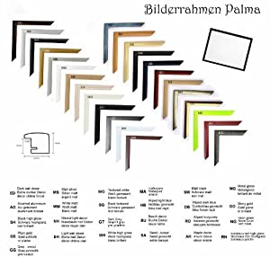 Palma MDF-Bilderrahmen 37,5x98 cm, schmale Leiste, 98x37,5 cm Farbwahl: hier Schwarz matt mit Antireflex-Acrylglas
