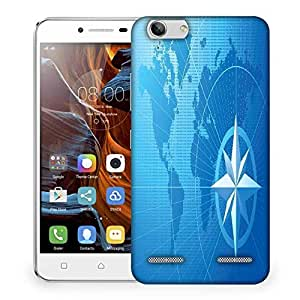 Snoogg blue compass vector background Designer Protective Back Case Cover For Lenovo K5 Vibe