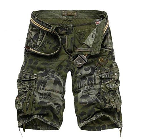 GG Relaxed casual Camo shorts. taglia uomo tasca cinque divisione con i pantaloni , army camouflage , 38