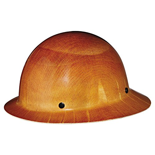 MSA Tan Skullgard Hard Hat with Staz-On Suspension and Full Brim 454664 (Msa Hard Hat Full Brim compare prices)