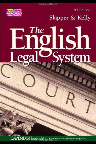 The English Legal System 7/e