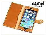 iPhone6 レザーケース 手帳型 キャメル 【Ricky's】 栃木レザー 本革 PLUS iPhone 6 ケース